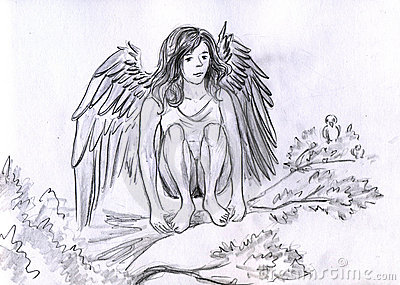 Angel on the branch
