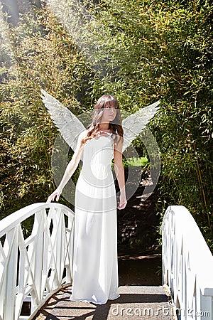 Angel on bridge
