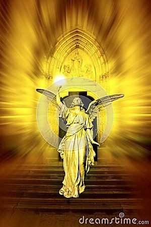 Free Angel Bringing Divine Light Stock Image - 9545521