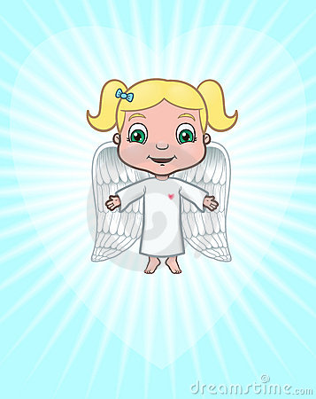 Free Angel Bringing Love Royalty Free Stock Photo - 13576795