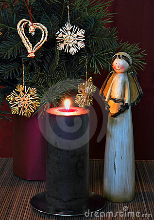 Angel and candle 2
