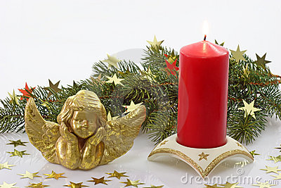 Angel with Candle and Fir