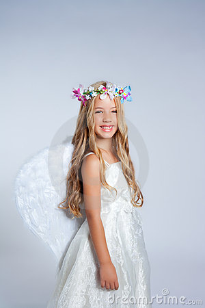 Angel children little girl fashion portrait