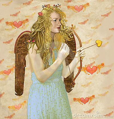 Free Angel Cupid Royalty Free Stock Photos - 23153308