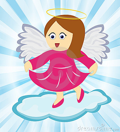 Angel dancing on cloud