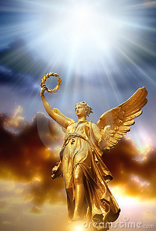 Angel with divine light