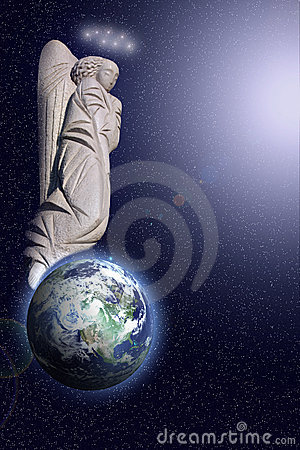 Angel and earth