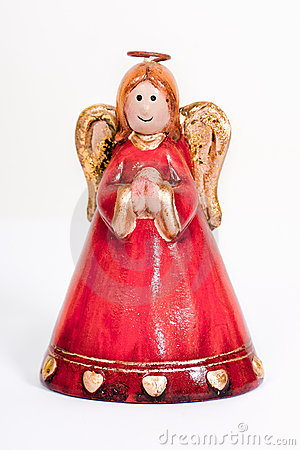 Free Angel Figurine Praying And Smiling Royalty Free Stock Image - 18125546