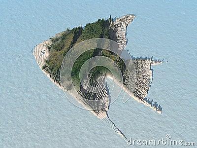 Angel Fish Island - fictional