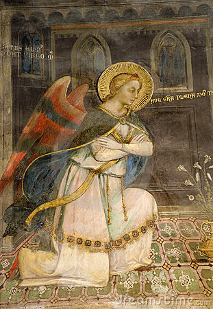 Angel - fresco from Florence
