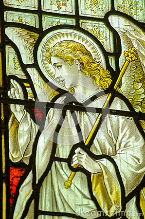 Angel Gabriel Stained Glass Window