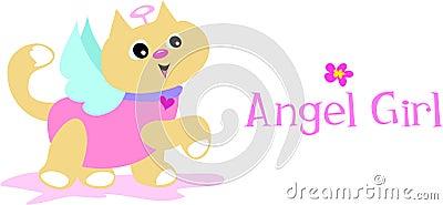 Angel Girl Cat