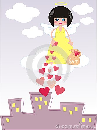 Angel giving love