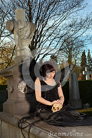 Angel on a grave