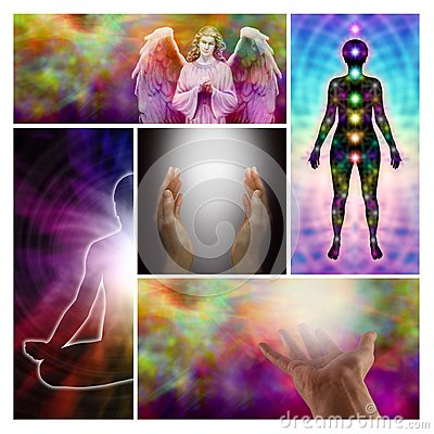 Free Angel Healing Hands Collage Stock Photos - 42250563