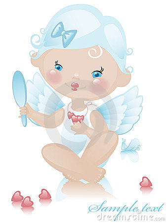 Angel with hearts 3.