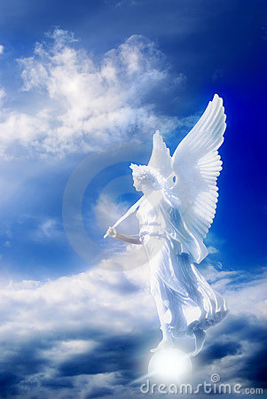 Free Angel In Divine Sky Stock Images - 8453334
