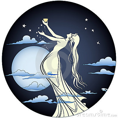 Free Angel In Moonlight Royalty Free Stock Photos - 17847388