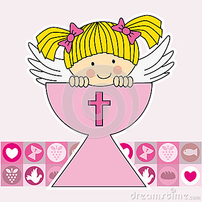 Free Angel In The Holy Grail Royalty Free Stock Photos - 33420708