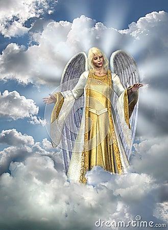 Angel of Light in Sky