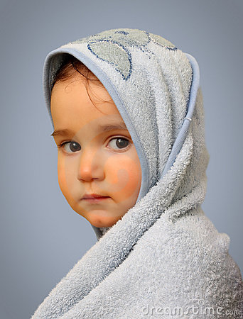 Angel look baby boy portrait