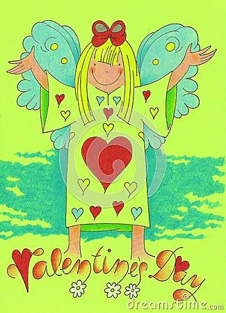 Angel in love- valentine day