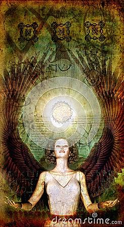 Angel magic painted