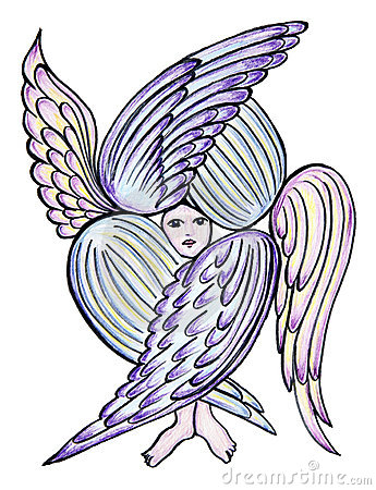 Royalty free stock images angel with many wings image 9427529
