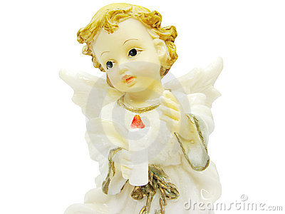 Angel miniature holding a candle