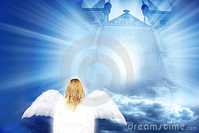 Angel with mystical gate