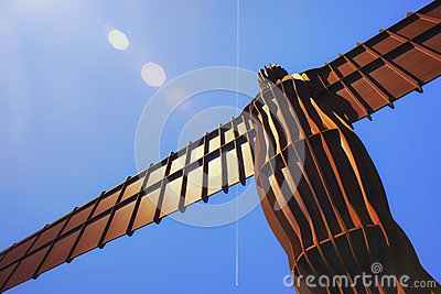Angel of the North Editorial Stock Photo
