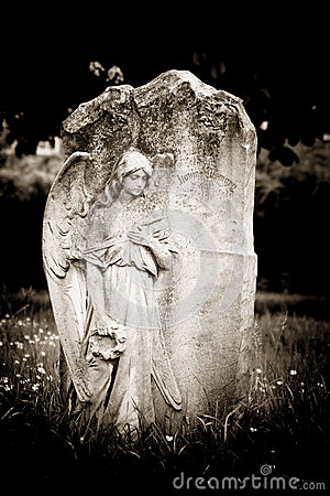 Free Angel On Blank Headstone Royalty Free Stock Photography - 32025687