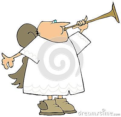 Angel Playing A Brass Horn