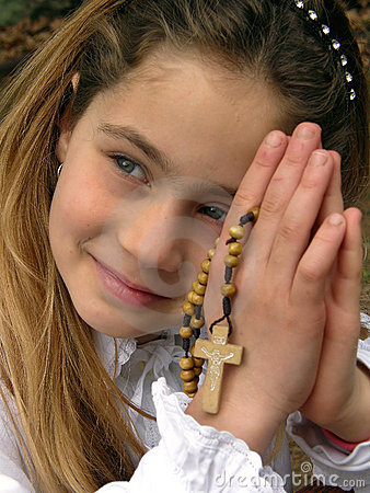 Free Angel (prayer) With A Rosary 1 Stock Photo - 17666730