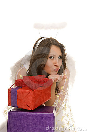 Angel with present