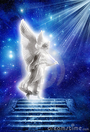 Angel With Rays Of Light Stock Photography Image 9401322
