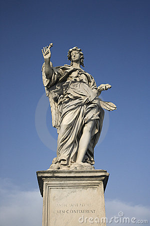 Free Angel Sculpture In Rome, Italy. Royalty Free Stock Photography - 2041817
