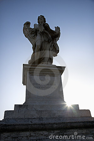 Free Angel Sculpture In Rome, Italy. Royalty Free Stock Photos - 2041818