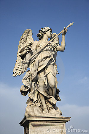Angel sculpture in Rome, Italy.