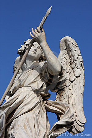 Angel sculpture on San Angelo bridge in Rome