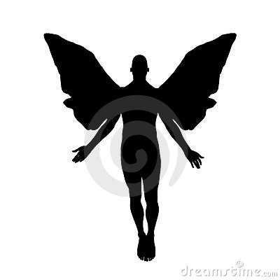 Stock Photos Angel Silhouette Image1061723 on Airplane Clip Art Transparent