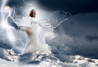 Angel In The Sky Storm Royalty Free Stock Images Image