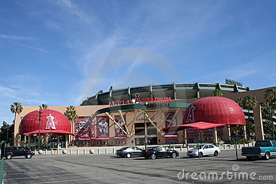 Angel Stadium Editorial Photo