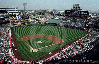 Angel Stadium of Anaheim Editorial Stock Photo