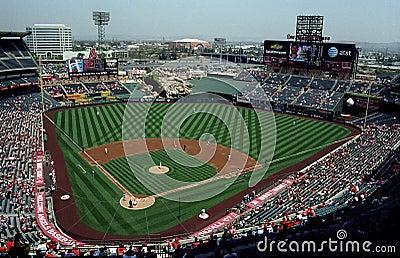 Angel Stadium of Anaheim Editorial Stock Photo