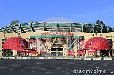 Angel Stadium of Anaheim Editorial Photography