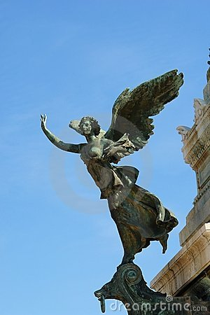 Angel Statue in Rome Italy