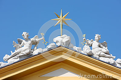 Angel statue on roof