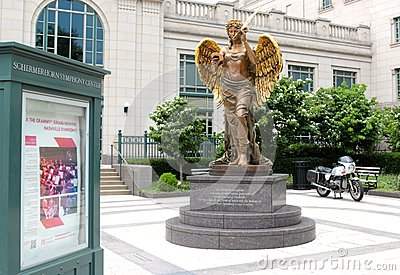 Angel Statue at the Schermerhorn Symphony Center Nashville Editorial Photography