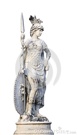 Free Angel Statue With Spear Isolated On White Royalty Free Stock Photo - 46965325